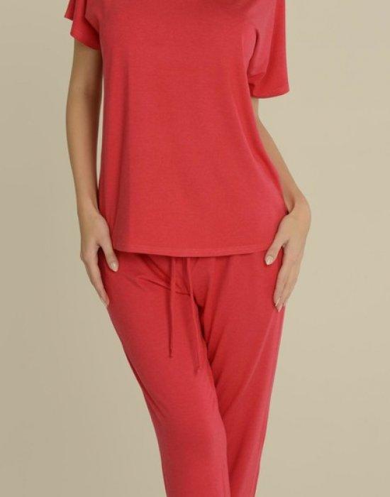 Дамска пижама в цвят малина Paula 524, De Lafense, Пижами - Modavel.com