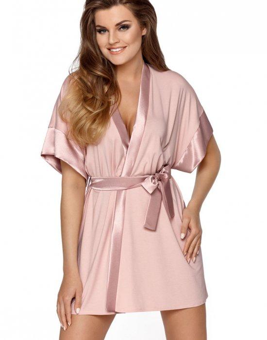 Дамски халат в цвят пудра Sabrina, Babella, Халати - Modavel.com