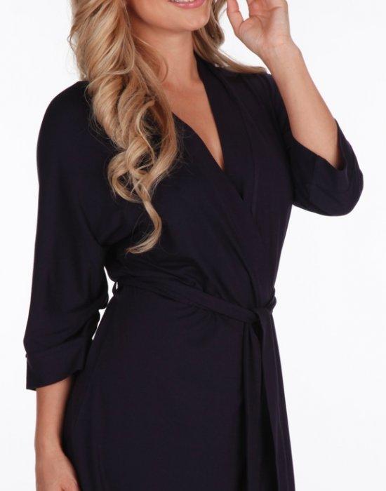 Дамски халат Visa в черен цвят, De Lafense, Халати - Modavel.com