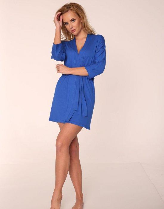 Дамски халат Visa в цвят метличина, De Lafense, Халати - Modavel.com