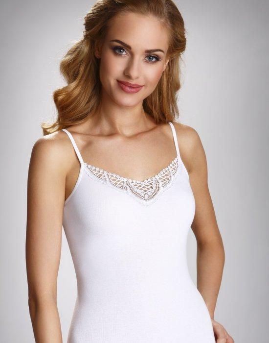 Дамски памучен ток в бял цвят Julita, Eldar, Блузи / Топове - Modavel.com