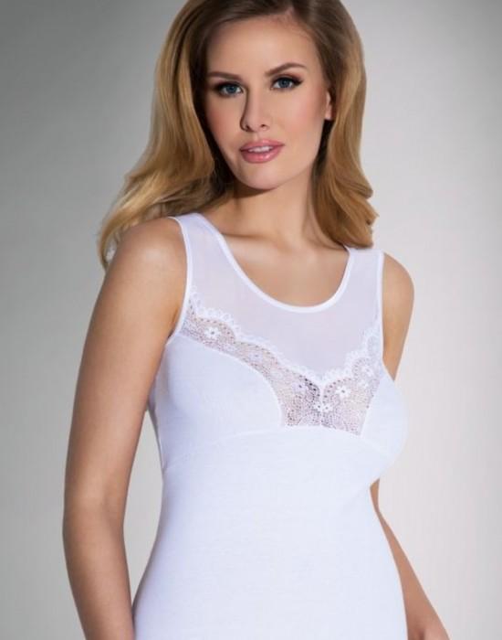 Дамски потник в бял цвят Sara, Eldar, Блузи / Топове - Modavel.com