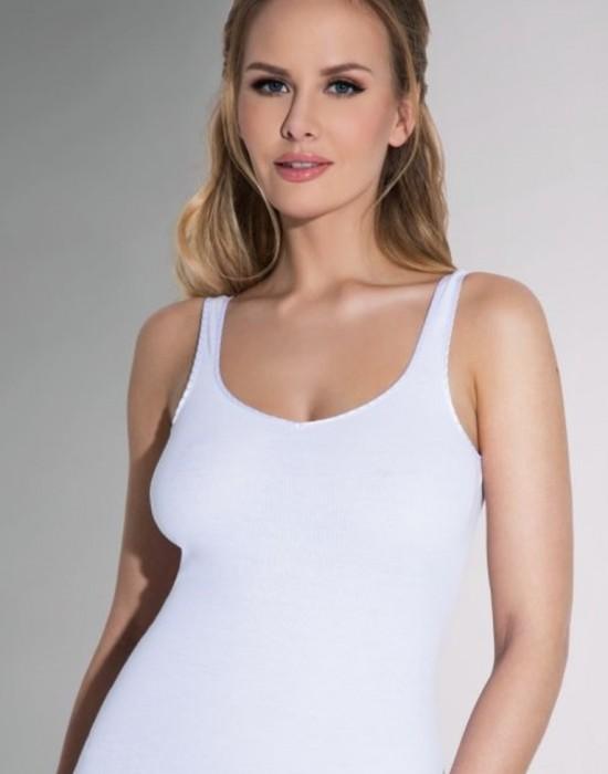 Дамски потник в бял цвят в макси размери Tola, Eldar, Блузи / Топове - Modavel.com