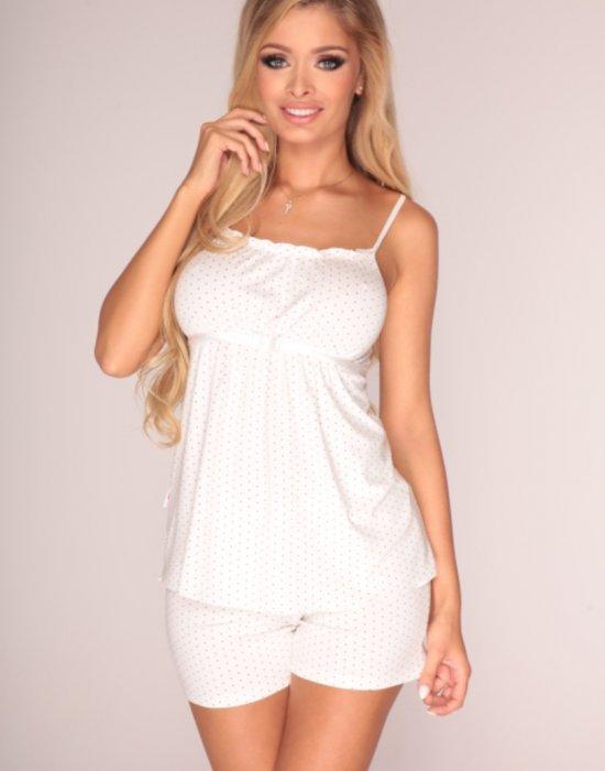 Дамски пижама в цвят екрю, De Lafense, Пижами - Modavel.com