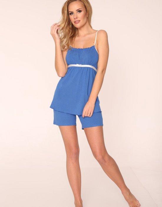 Дамски пижама в тъмносин цвят, De Lafense, Пижами - Modavel.com