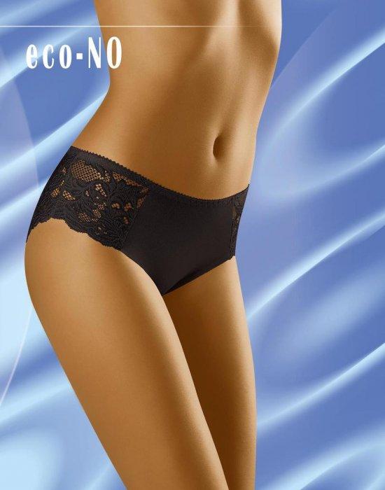 Дантелени бикини в черен цвят Eco No, Wolbar, Бикини - Modavel.com