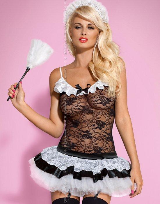 Еротичен костюм на прислужница Housemaid, Obsessive, Комплекти - Modavel.com
