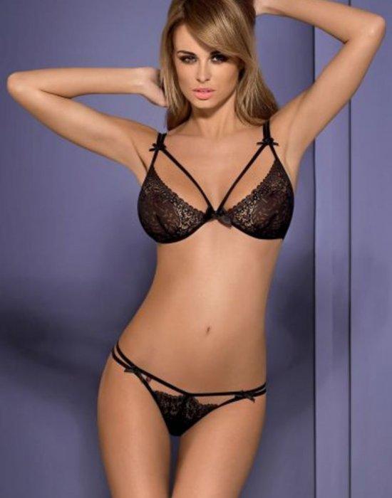 Комплект сутиен и прашки в черен цвят Intensa, Obsessive, Комплекти - Modavel.com