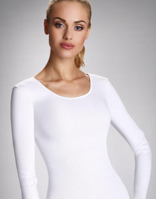 Памучна блуза в бял цвят в макси размери Irene, Eldar, Блузи / Топове - Modavel.com