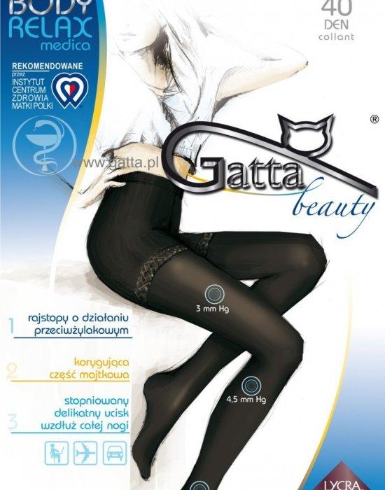 Релаксиращ чорапогащник в черно Body Relaxmedica Nero 40 DEN, Gatta, Чорапогащи - Modavel.com