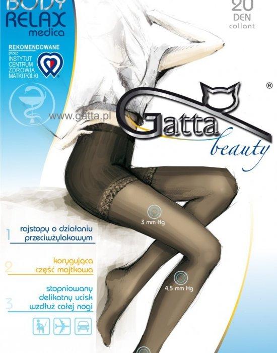 Релаксиращ чорапогащник в черно Body Relaxmedica Nero 20 DEN, Gatta, Чорапогащи - Modavel.com