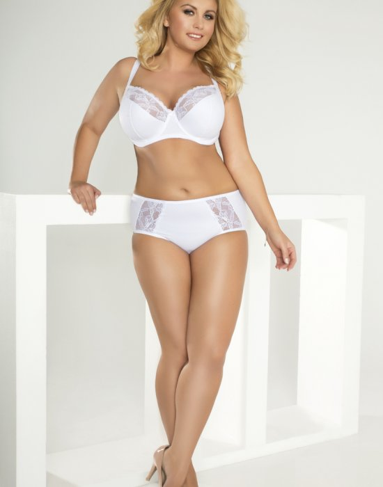 Сутиен за голям бюст в бял цвят 112, Lupoline, Големи размери - Modavel.com