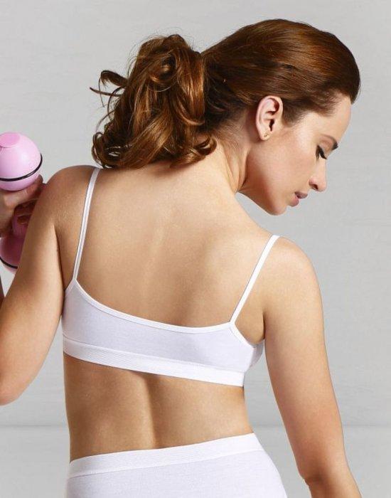 Дамски спортен топ в бял цвят STELLA, Eldar, Мека чашка - Modavel.com