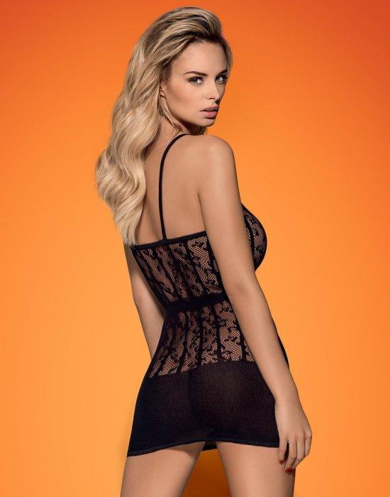 Черна еротична рокля D605, Obsessive, Рокли - Modavel.com