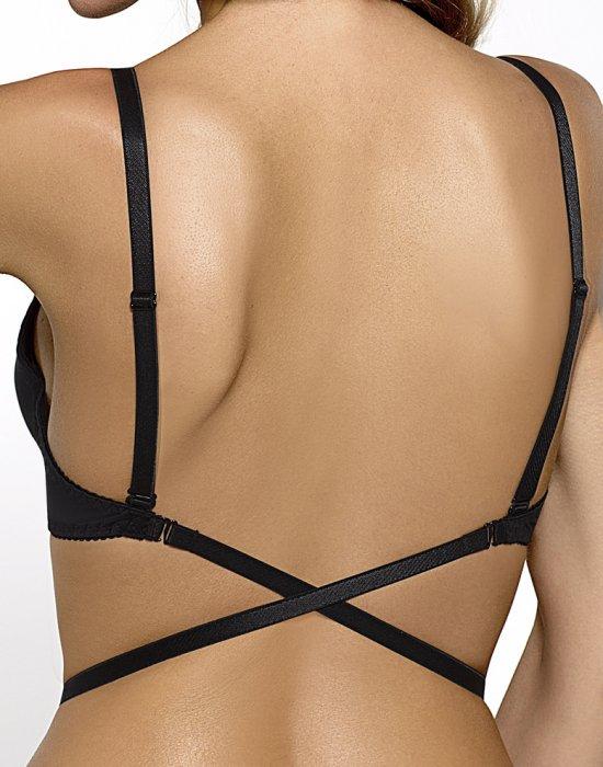 Черен сутиен със силиконов гръб ISMENA 02, Nipplex, Повдигащи - Modavel.com