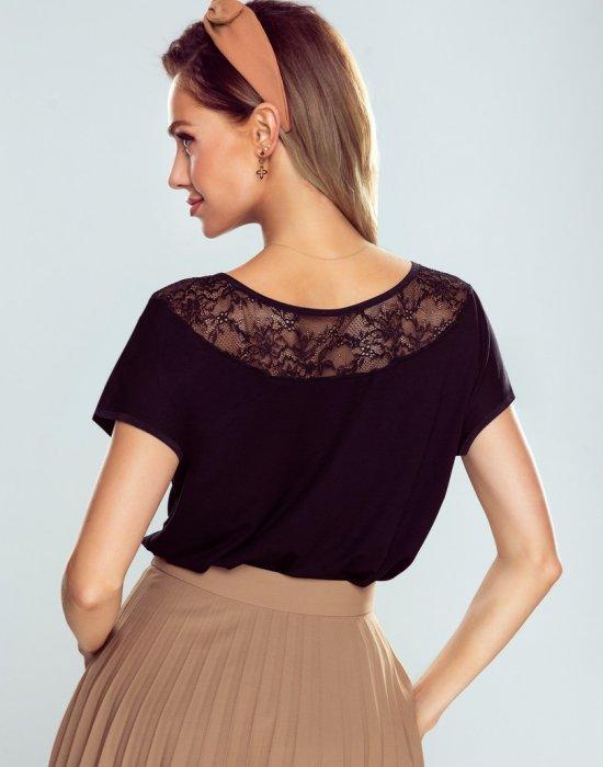 Черна дамска тениска Medea, Eldar, Блузи / Топове - Modavel.com