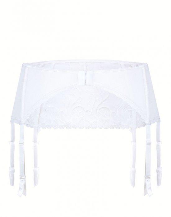 Жартиерен колан в бял цвят Anuk