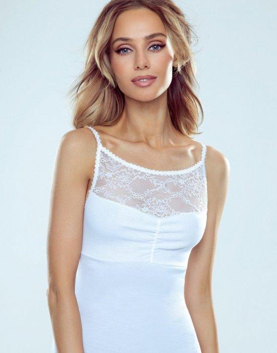 Бял дамски топ в големи размери Malwina, Eldar, Блузи / Топове - Modavel.com