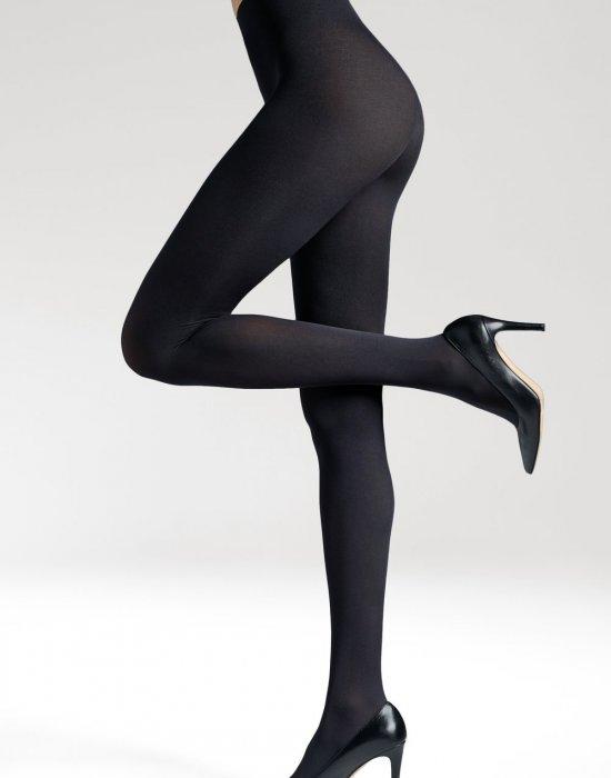 Безшевни чорапогащи в черен цвят LYCRA® 3D Satti Matti 90 DEN, Gatta, Чорапогащи - Modavel.com