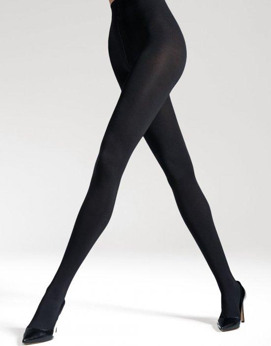Безшевни чорапогащи в черен цвят LYCRA® 3D Satti Matti 50 DEN, Gatta, Чорапогащи - Modavel.com