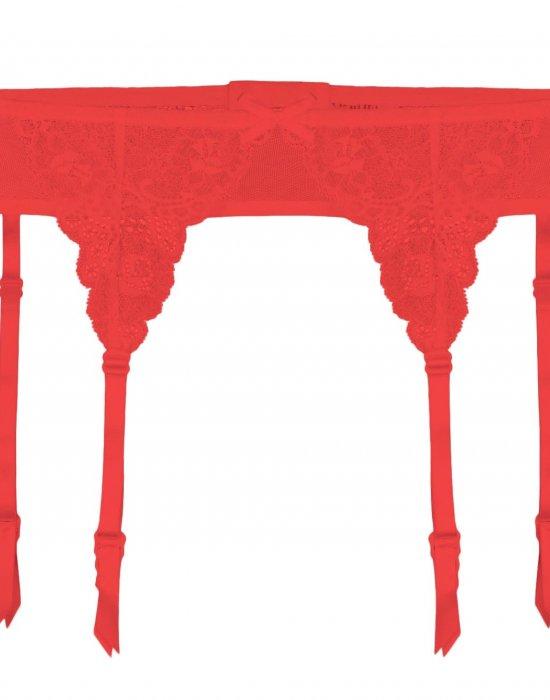 Жартиерен колан в червен цвят Iris, Julimex, Жартиер колани - Modavel.com