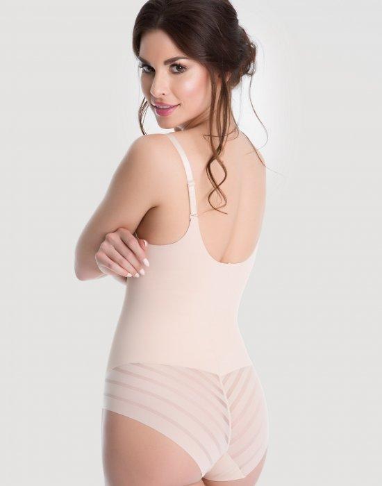 Моделиращо боди с отворен бюст в телесен цвят, Julimex, Бодита - Modavel.com