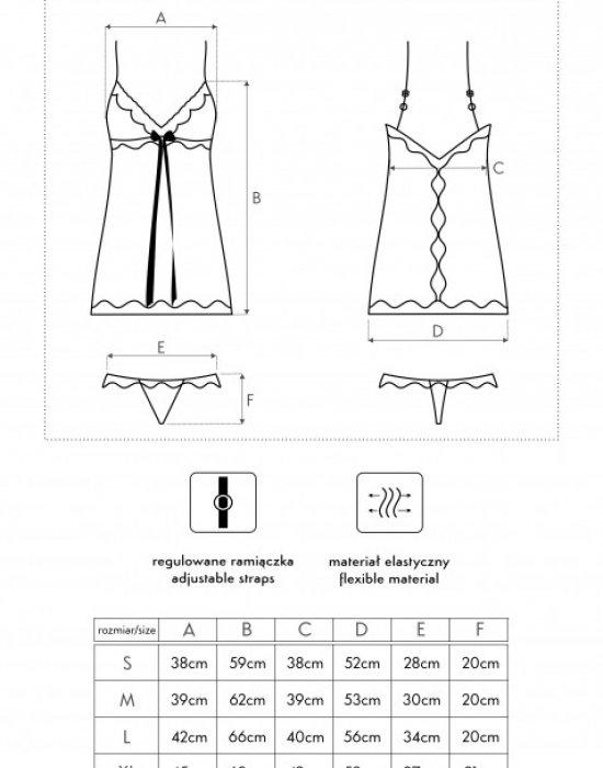 Секси нощница с прашки в червено Luna, LivCo Corsetti Fashion, Комплекти - Modavel.com
