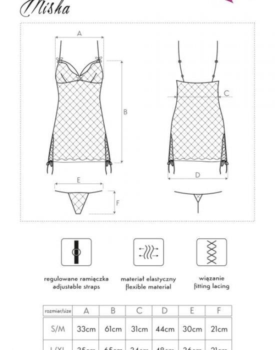 Секси нощница с прашки Misha, LivCo Corsetti Fashion, Комплекти - Modavel.com