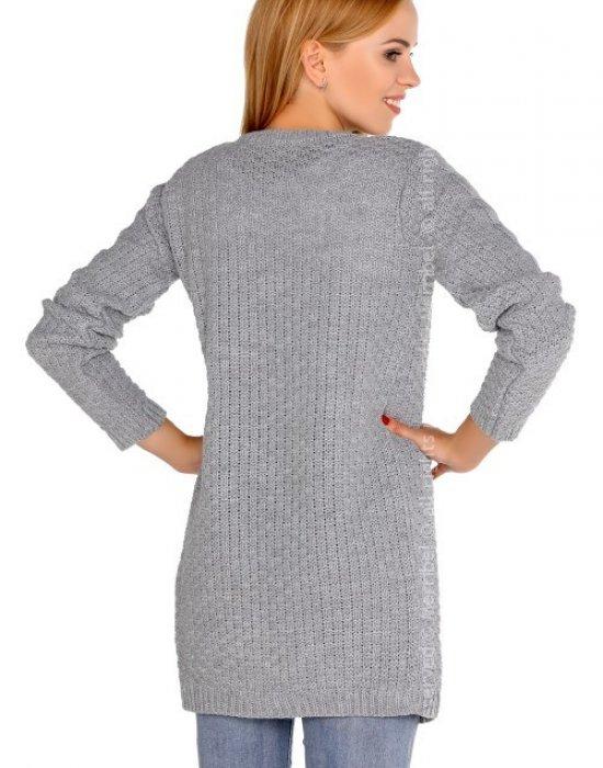 Дълга дамска жилетка в сиво Anionees, Merribel, Връхни - Modavel.com