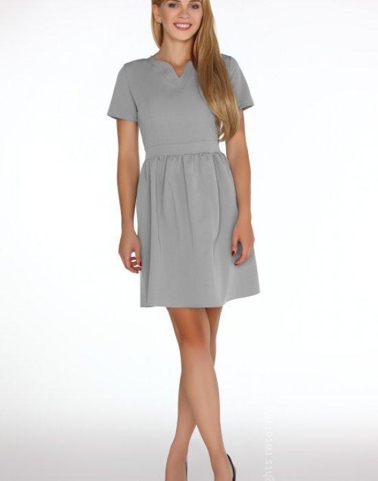 Елегантна къса рокля в сиво Marelna, Merribel, Къси рокли - Modavel.com