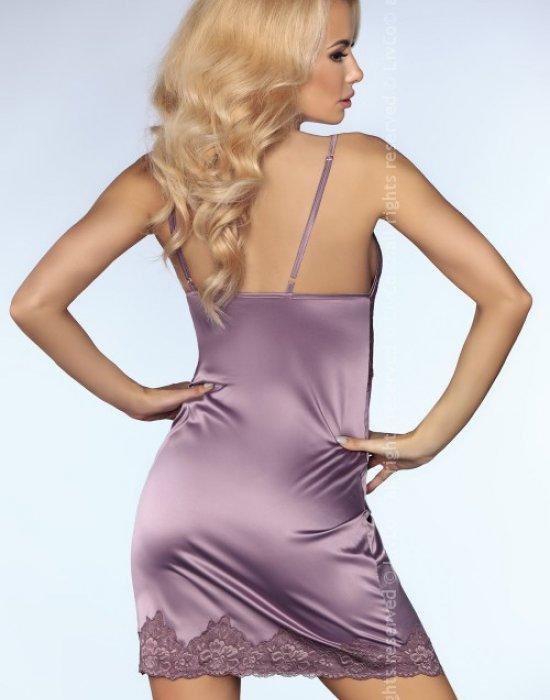 Еротична нощница с прашки в лилаво Monserrat, LivCo Corsetti Fashion, Комплекти - Modavel.com