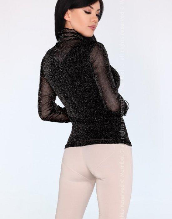 Дамско поло в черен цвят Nona, Merribel, Блузи / Топове - Modavel.com
