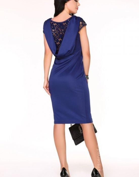Елегантна миди рокля в тъмносиньо Meira, Merribel, Миди рокли - Modavel.com