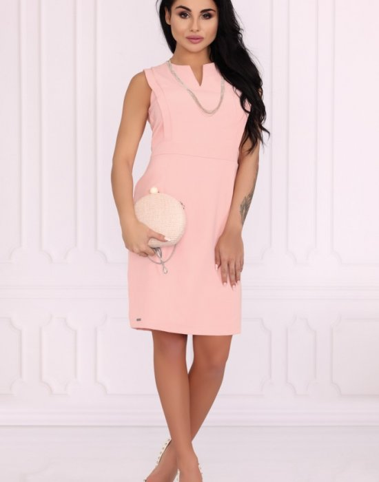 Елегантна рокля Viran в цвят пудра, Merribel, Къси рокли - Modavel.com