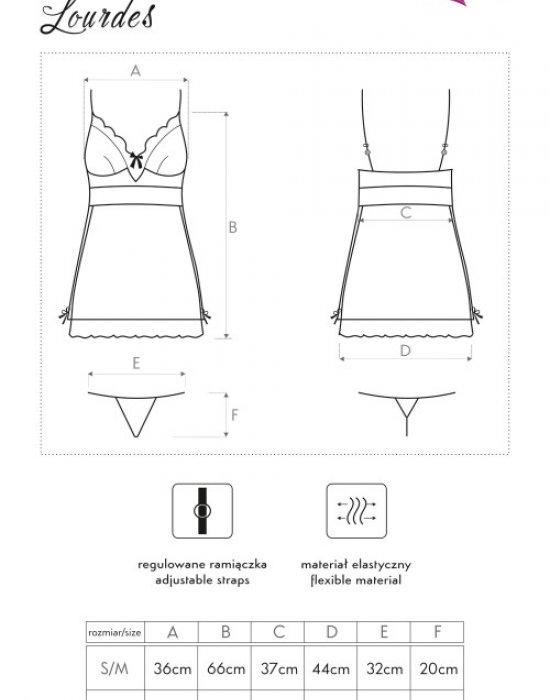 Еротична нощница с прашки Lourdes, LivCo Corsetti Fashion, Комплекти - Modavel.com