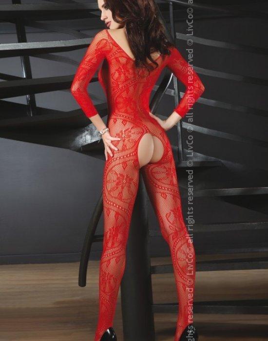 Целокупно боди в червен цвят Abra, LivCo Corsetti Fashion, Целокупни бодита - Modavel.com