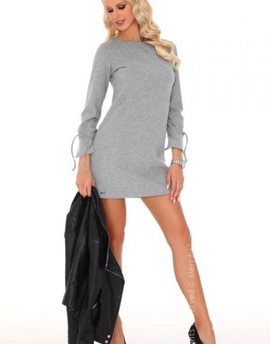 Ежедневна мини рокля в сиво Mariabela, Merribel, Къси рокли - Modavel.com