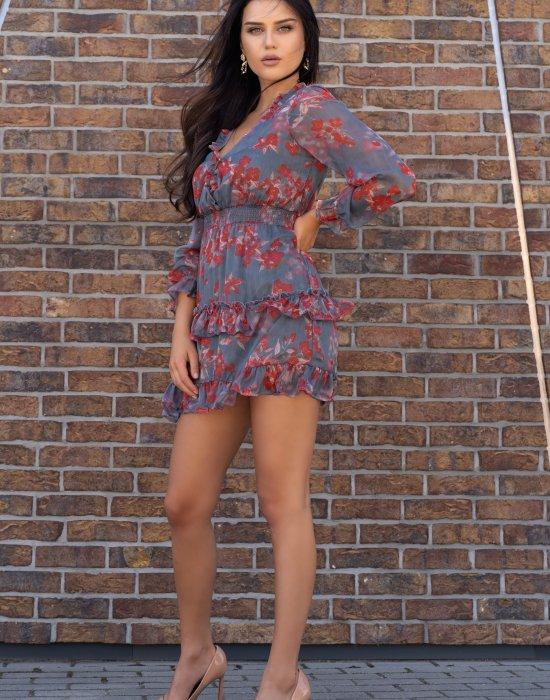 Ефирна къса рокля Visteriam, Merribel, Къси рокли - Modavel.com