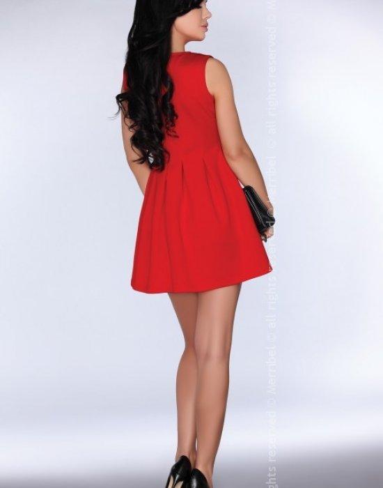 Ежедневна къса рокля в червено CG001, Merribel, Къси рокли - Modavel.com