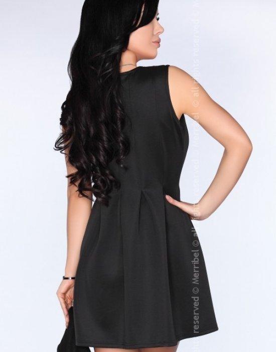 Ежедневна къса рокля в черно CG001, Merribel, Къси рокли - Modavel.com