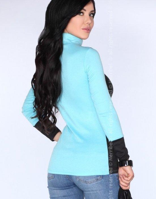 Елегантна дамска блуза в синьо CG010, Merribel, Блузи / Топове - Modavel.com