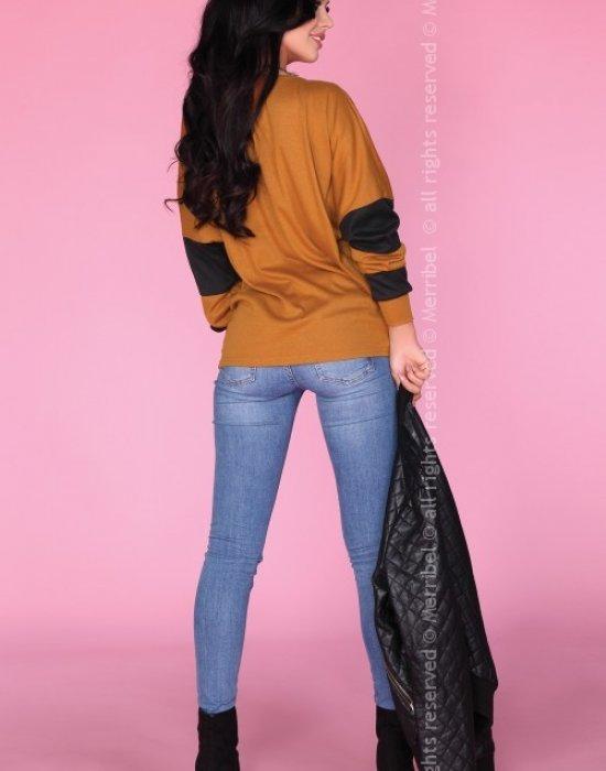 Дамска блуза в кафяв цвят CG027, Merribel, Блузи / Топове - Modavel.com