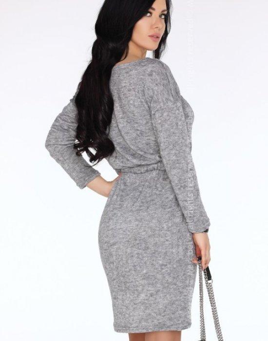 Ежедневна миди рокля в сиво Breshey, Merribel, Миди рокли - Modavel.com