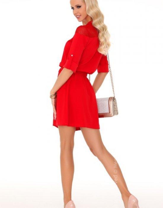 Ежедневна мини рокля в червено Amrosin, Merribel, Къси рокли - Modavel.com