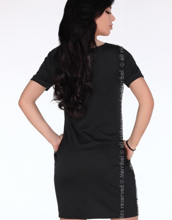 Ежедневна къса рокля в сиво CG697, Merribel, Къси рокли - Modavel.com