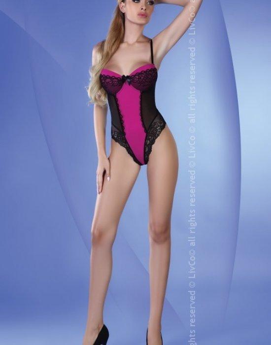 Дантелено боди в лилав цвят Karri, LivCo Corsetti Fashion, Секси Бодита - Modavel.com