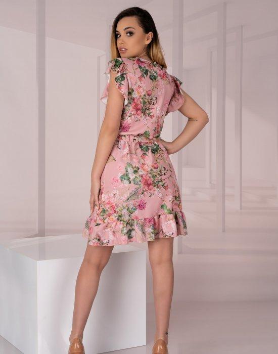 Къса ефирна рокля на цветя Masinix D12, Merribel, Къси рокли - Modavel.com