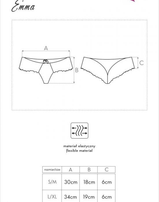 Секси прашки с дантела във флорален мотив Emma, LivCo Corsetti Fashion, Прашки - Modavel.com