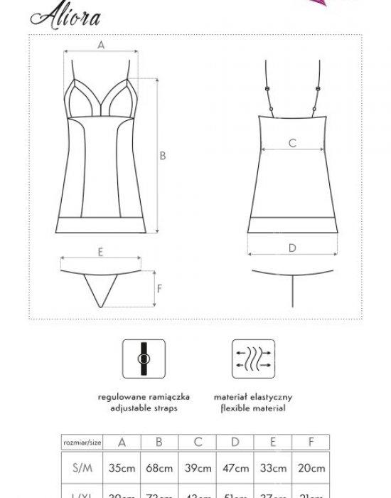 Еротична нощница с прашки Aliora, LivCo Corsetti Fashion, Комплекти - Modavel.com