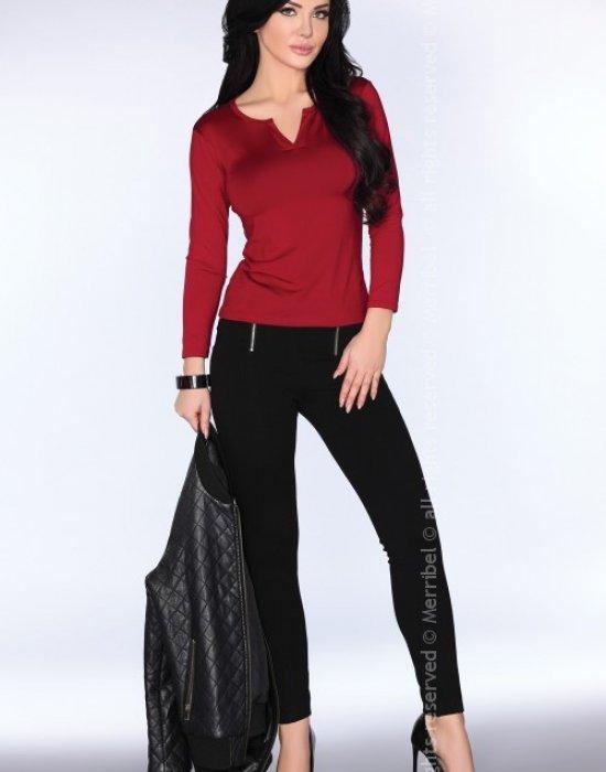 Елегантна дамска блуза в цвят бордо CG011, Merribel, Блузи / Топове - Modavel.com